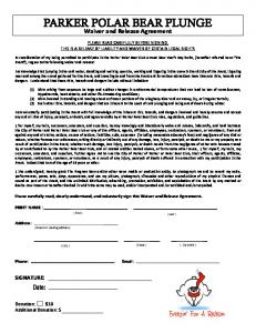 PARKER POLAR BEAR CLUB Waiver and Release Agreement 2014 ...