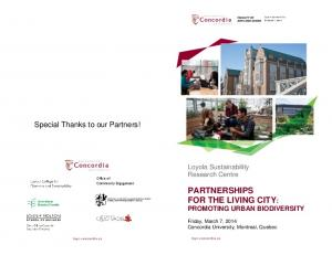 partnerships for the living city -