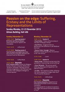 Passion on the edge: Suffering, Ecstasy and the ... -