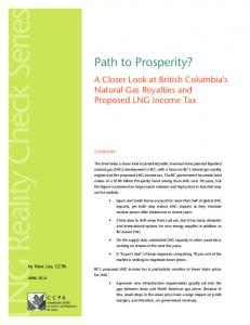 Path to Prosperity? - Canadian Centre for Policy Alternatives