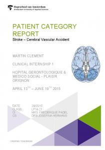 patient category report