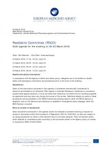 PDCO agenda of the 20-23 March 2018 meeting - European ...