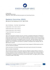 PDCO minutes 24-27 April 2018 - European Medicines Agency