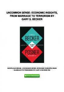 pdf-0464\uncommon-sense-economic-insights-from-marriage-to ...