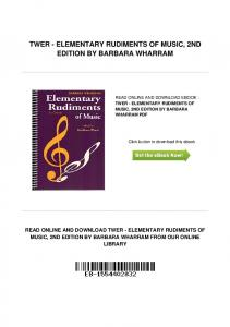 Pdfbooks speakout elementary 2nd edition teacher pdfkul pdf 11151twer elementary rudiments of music 2nd fandeluxe Gallery