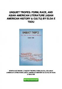 pdf-129\unquiet-tropes-form-race-and-asian-american-literature ...