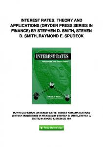 pdf-131\interest-rates-theory-and-applications-dryden-press-series ...