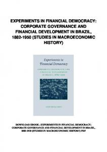 pdf-146\experiments-in-financial-democracy-corporate-governance ...