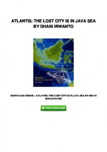 pdf-15152\atlantis-the-lost-city-is-in-java-sea-by ...