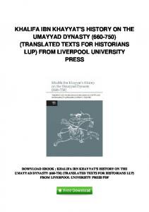 pdf-1557\khalifa-ibn-khayyats-history-on-the ...