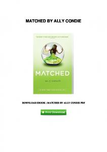 Free download crossed matched by ally condie pdf pdfkul pdf 17matched by ally condiepdf fandeluxe Images