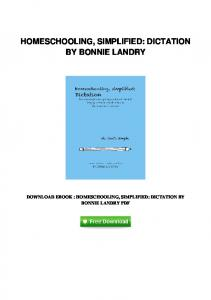 pdf-2087\homeschooling-simplified-dictation-by-bonnie-landry.pdf ...