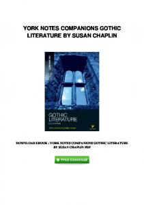 pdf-21160\york-notes-companions-gothic-literature-by-susan ...