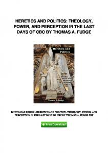 pdf-2130\heretics-and-politics-theology-power-and-perception-in ...
