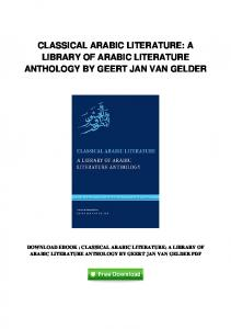pdf-40\classical-arabic-literature-a-library-of-arabic-literature ...