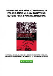 pdf-422\transnational-punk-communities-in-poland-from-nihilism-to ...