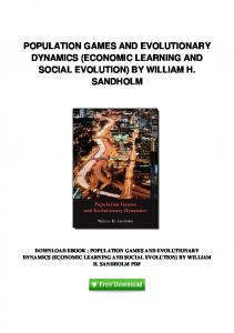 pdf-4\population-games-and-evolutionary-dynamics-economic ...