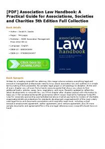 [PDF] Association Law Handbook: A Practical Guide for Associations ...