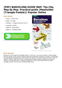 [PDF] BARCELONA GUIDE MAP: The City, Map by Map. Practical ...