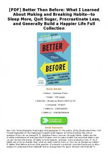 [PDF] Better Than Before