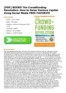 [PDF] BOOKS The Crowdfunding Revolution: How to ...