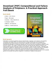 [PDF] Compositional and Failure Analysis of Polymers