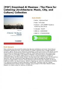 [PDF] Download Al Masmaa : The Place for Listening