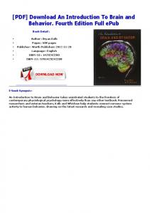 [PDF] Download An Introduction To Brain and Behavior ...