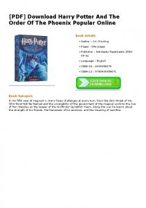 [PDF] Download Harry Potter And The Order Of The Phoenix ...