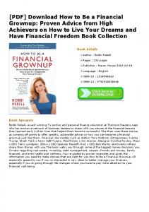 [PDF] Download How to Be a Financial Grownup