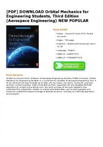 Orbital Mechanics Pdf