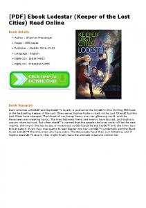 [PDF] Ebook Lodestar (Keeper of the Lost Cities) Read ...