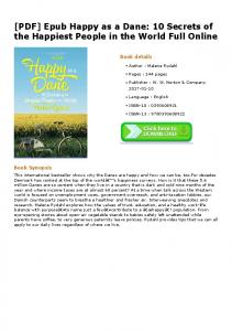 [PDF] Epub Happy as a Dane: 10 Secrets of the ...