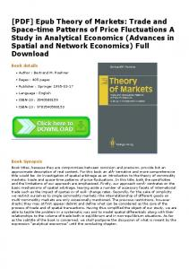 [PDF] Epub Theory of Markets