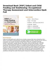 [PDF] Infant and Child Feeding and Swallowing