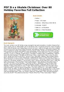 PDF It sa Ukulele Christmas: Over 80 Holiday ...