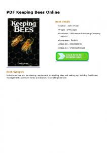 PDF Keeping Bees Online