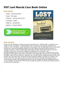 PDF Lost Muscle Cars Book Online