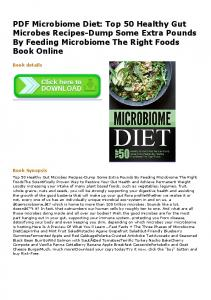 PDF Microbiome Diet: Top 50 Healthy Gut Microbes ...