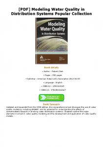 [PDF] Modeling Water Quality in Distribution Systems ...