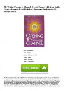 PDF Online Opening to Channel