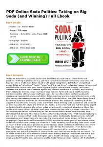 PDF Online Soda Politics: Taking on Big Soda