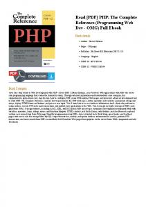 [PDF] PHP: The Complete Reference