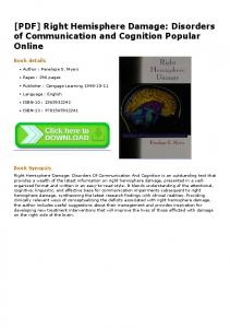 [PDF] Right Hemisphere Damage: Disorders of ...