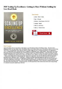 PDF Scaling Up Excellence: Getting to More Without ...