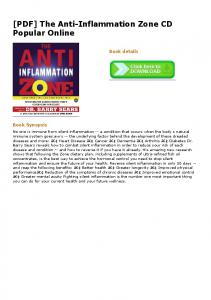 [PDF] The Anti-Inflammation Zone CD Popular Online