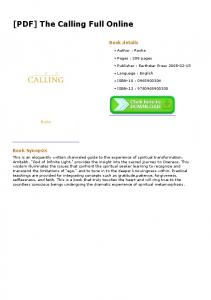 [PDF] The Calling Full Online