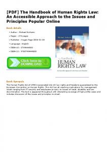 [PDF] The Handbook of Human Rights Law: An ...
