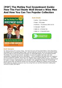 [PDF] The Motley Fool Investment Guide: How The Fool Beats Wall ...