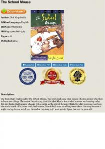 PDF The School Mouse - Dick King-Smith - Book